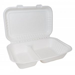 Bagasse Clamshell by JUST OFF UK